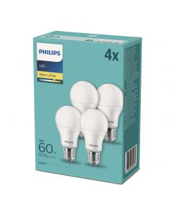 SET DI 4 LAMPADINE A LED BRILLANTE PHILIPS
