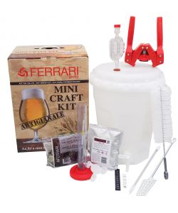 KIT BIRRA ARTIGIANALE LUX MINI CRAFT CON FERMENTATORE DA 13,5 LITRI - FERRARI GROUP